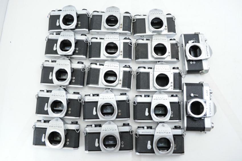 【ecoま】ペンタックス PENTAX/YASHICA/FUJICA M42マウント 一眼レフカメラ 17台まとめて ジャンク_画像3