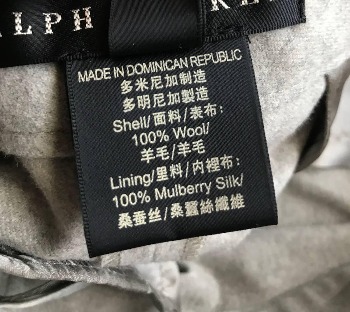 新品 定価10万円程 RALPH LAUREN BLACK LABEL ラルフローレン ブラックレーベル パンツ 上質 グレー 6_画像4