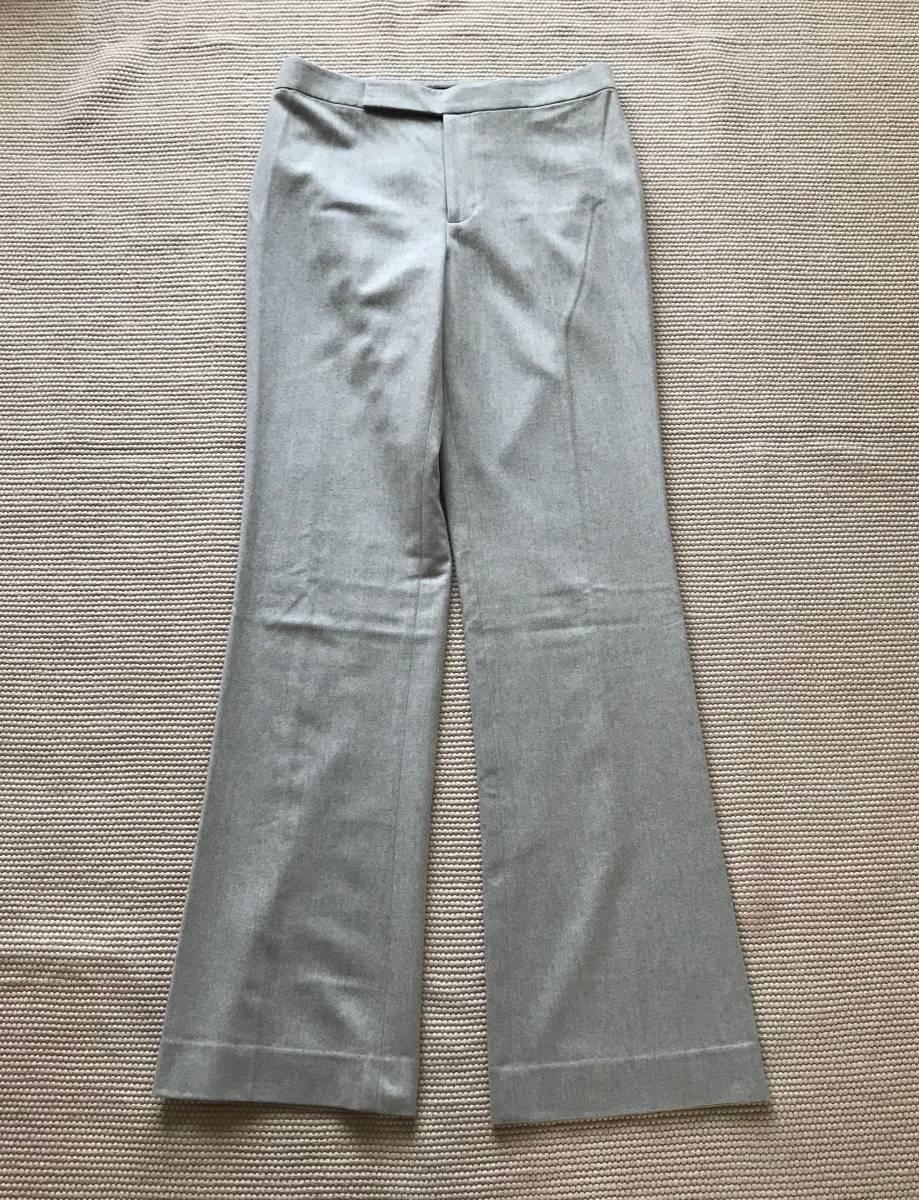 新品 定価10万円程 RALPH LAUREN BLACK LABEL ラルフローレン ブラックレーベル パンツ 上質 グレー 6_画像1