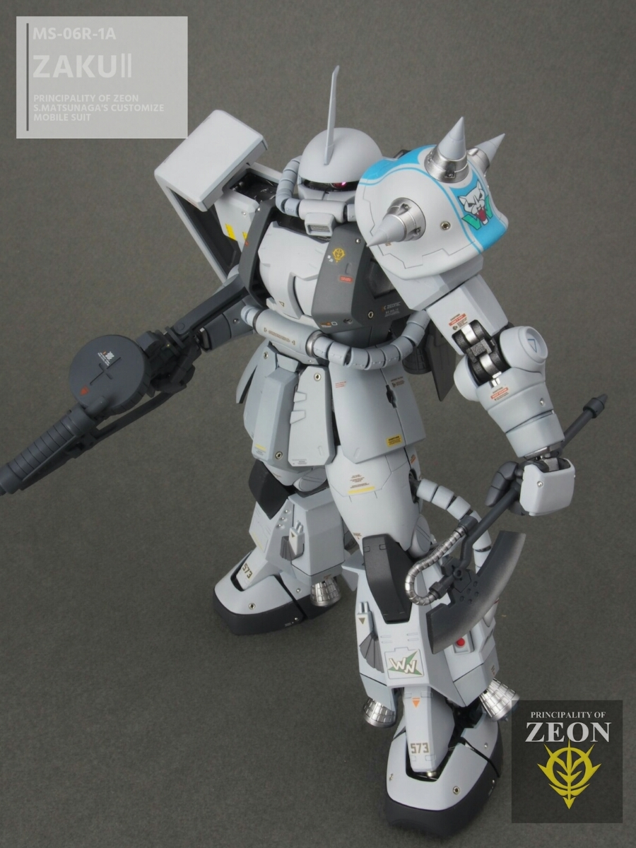 MG 1/100 MS-06R-1A 高機動型ザクⅡ Ver.2.0シンマツナガ専用機 塗装済 完成品 マスターアーカイブカラー☆送料無料_画像5
