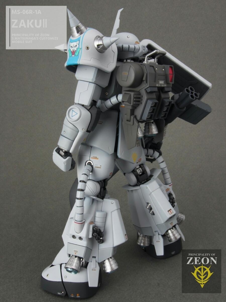 MG 1/100 MS-06R-1A 高機動型ザクⅡ Ver.2.0シンマツナガ専用機 塗装済 完成品 マスターアーカイブカラー☆送料無料_画像3
