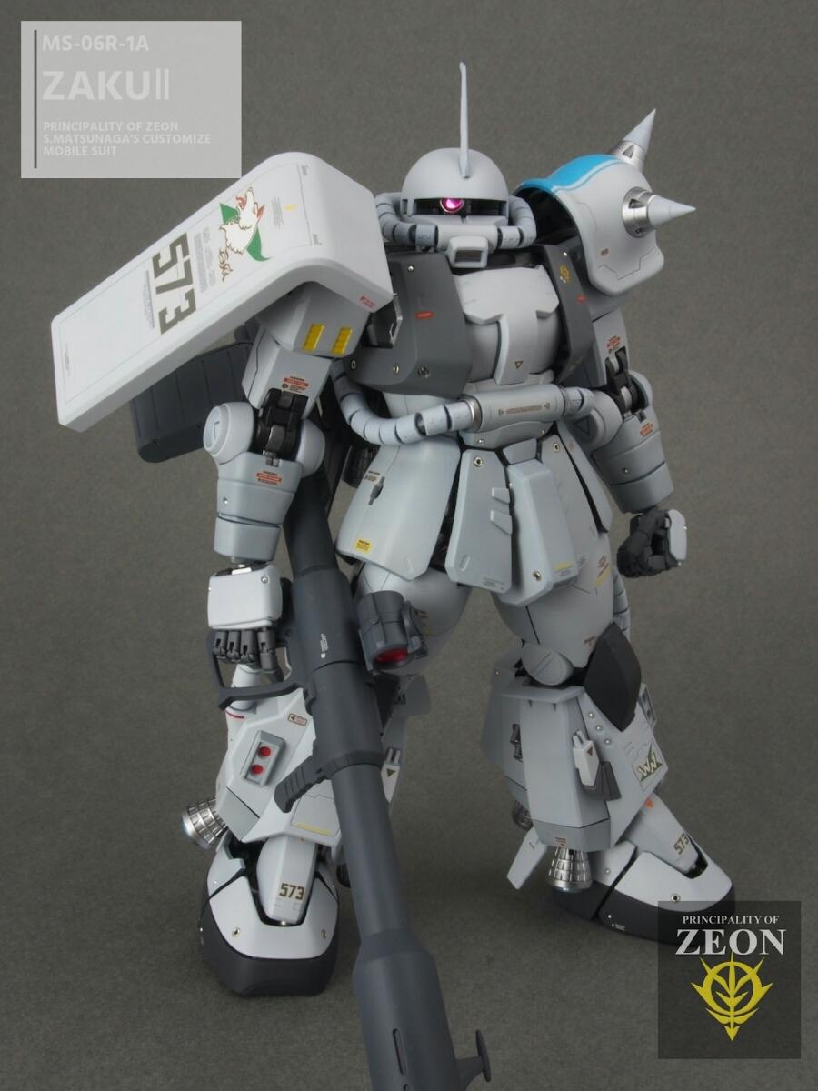 MG 1/100 MS-06R-1A 高機動型ザクⅡ Ver.2.0シンマツナガ専用機 塗装済 完成品 マスターアーカイブカラー☆送料無料_画像7