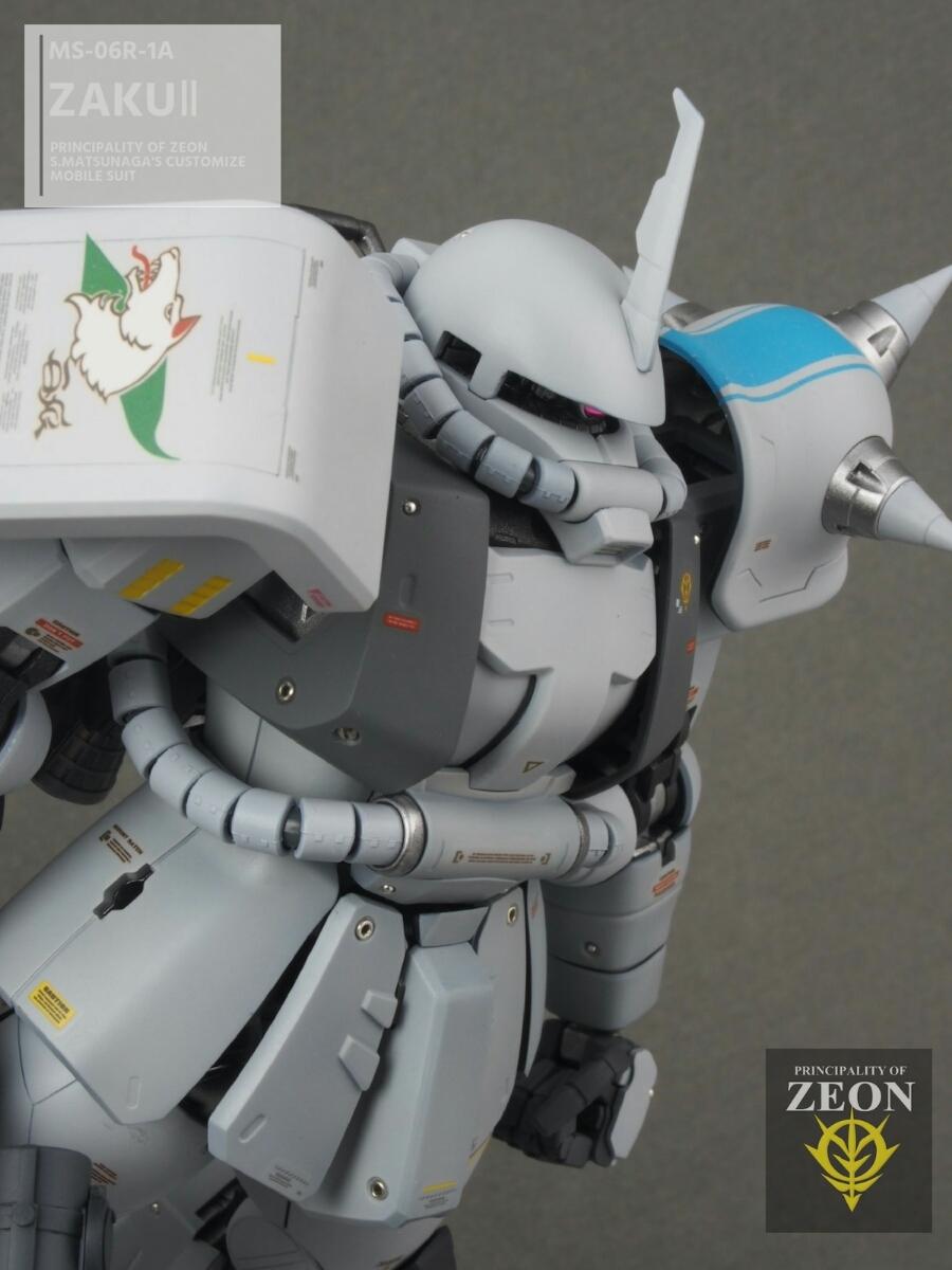 MG 1/100 MS-06R-1A 高機動型ザクⅡ Ver.2.0シンマツナガ専用機 塗装済 完成品 マスターアーカイブカラー☆送料無料_画像6