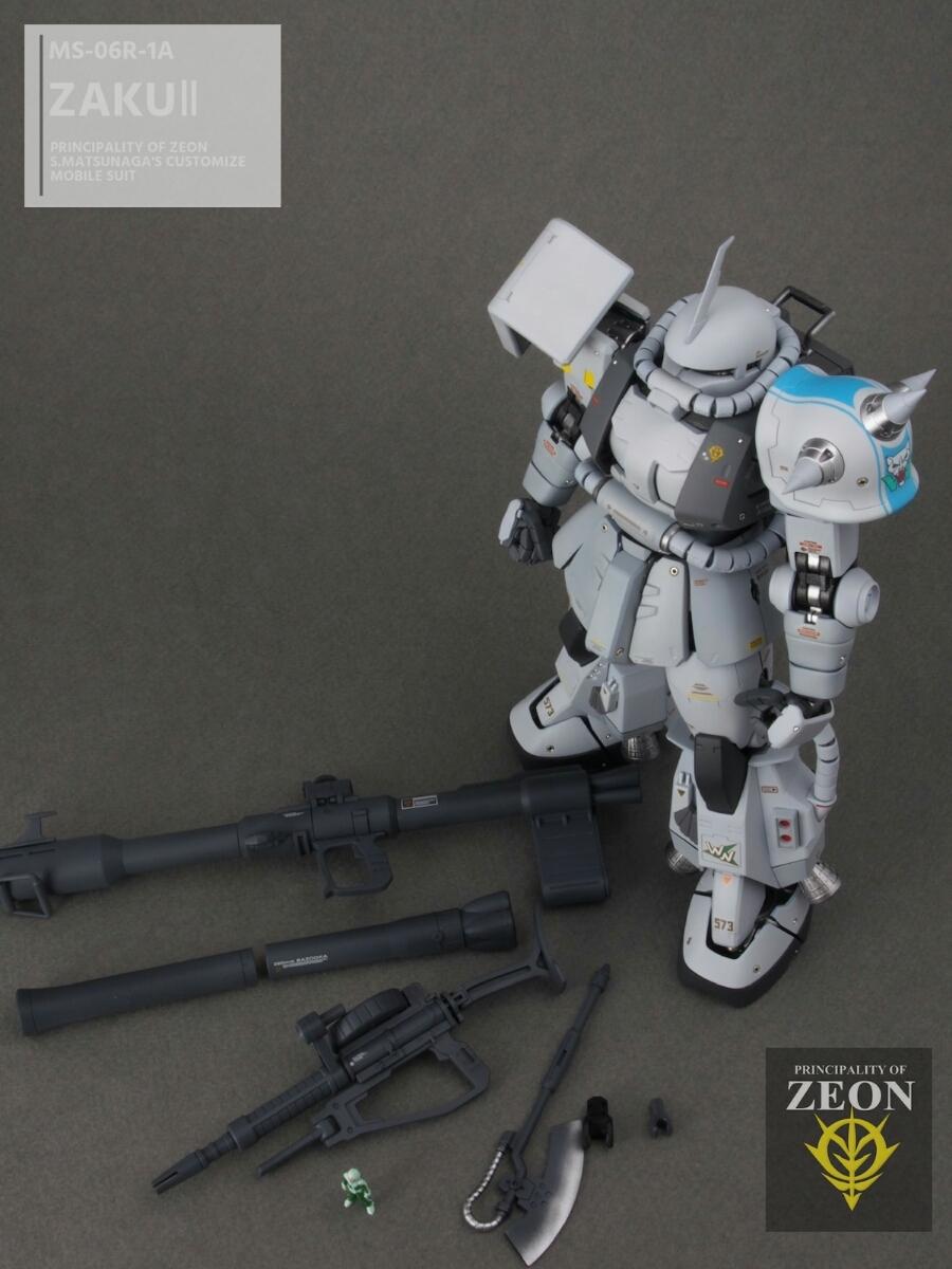 MG 1/100 MS-06R-1A 高機動型ザクⅡ Ver.2.0シンマツナガ専用機 塗装済 完成品 マスターアーカイブカラー☆送料無料_画像10