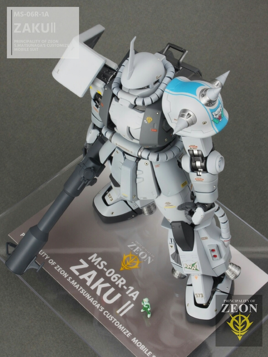 MG 1/100 MS-06R-1A 高機動型ザクⅡ Ver.2.0シンマツナガ専用機 塗装済 完成品 マスターアーカイブカラー☆送料無料_画像9