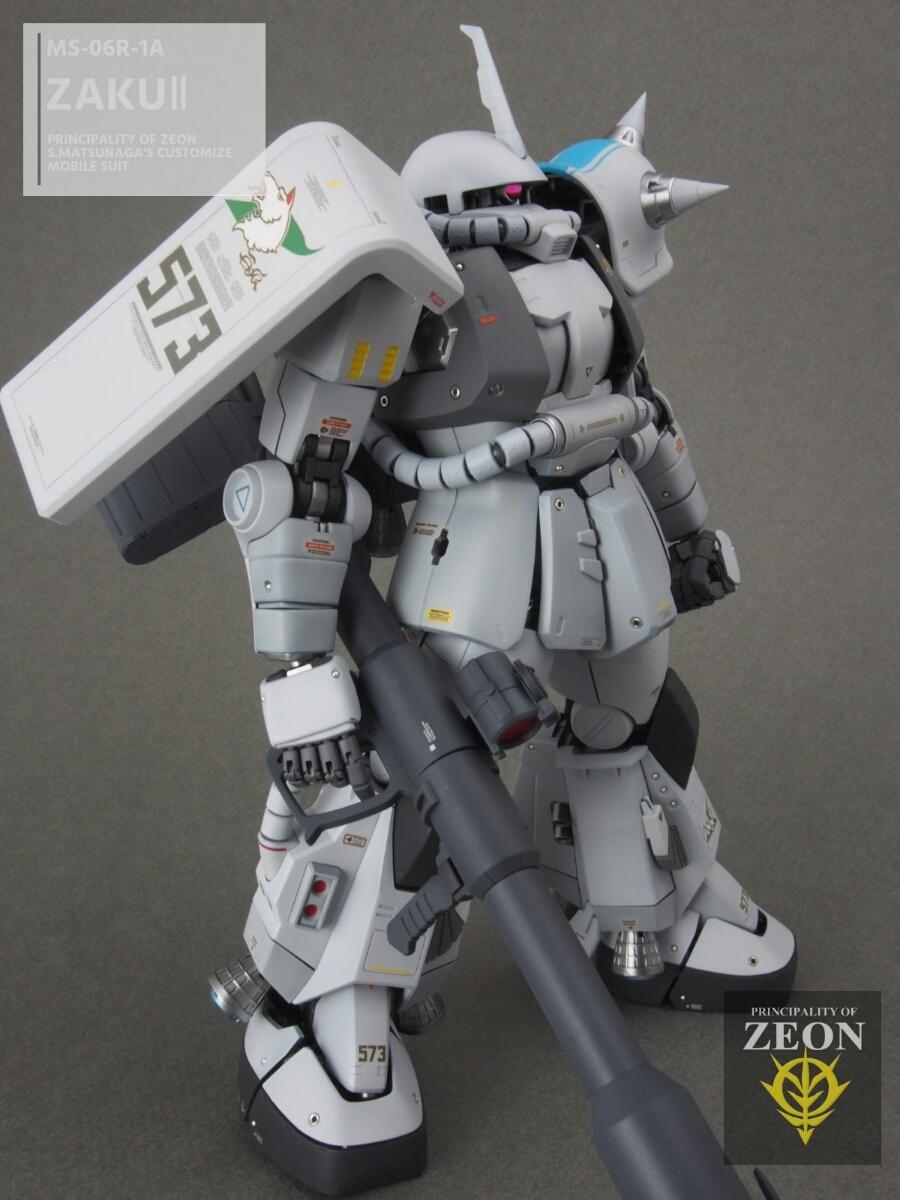 MG 1/100 MS-06R-1A 高機動型ザクⅡ Ver.2.0シンマツナガ専用機 塗装済 完成品 マスターアーカイブカラー☆送料無料_画像8