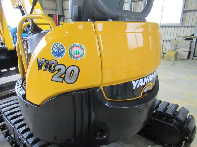 稼働少ない ヤンマー Vio20-3 2t後方小旋回 ユンボ 建設機械 重機 _画像7