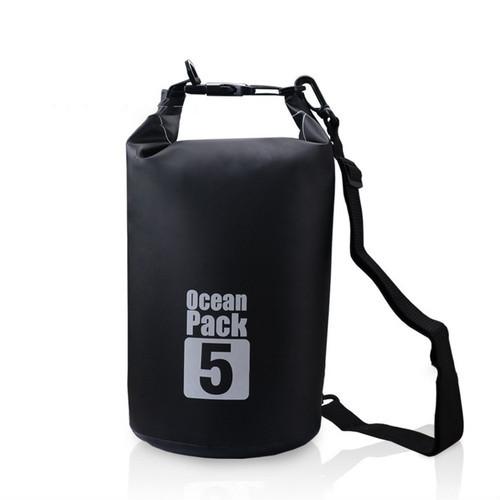 黒★ブラック Ocean Pack ドライバッグ 防水 5L PVC スノボー スキー 釣り 防災 ハイキング zada009_画像1