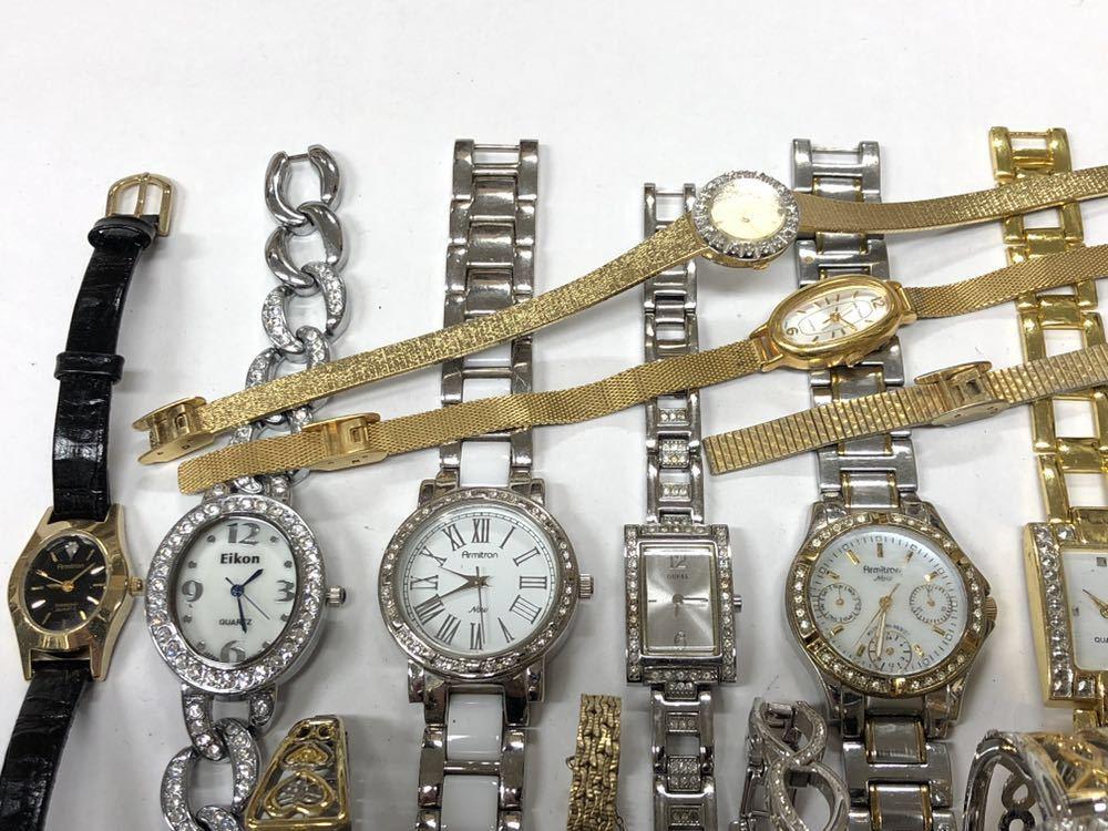 宝飾腕時計など20点 ゴールド シルバー ダイヤモンド 大量 まとめ売りセット ジャンク 豪華 格安1スタート 部品取り GRUEN WALTHAM 056_画像6