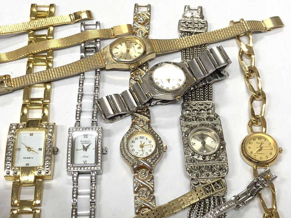 宝飾腕時計など20点 ゴールド シルバー ダイヤモンド 大量 まとめ売りセット ジャンク 豪華 格安1スタート 部品取り GRUEN WALTHAM 056_画像4
