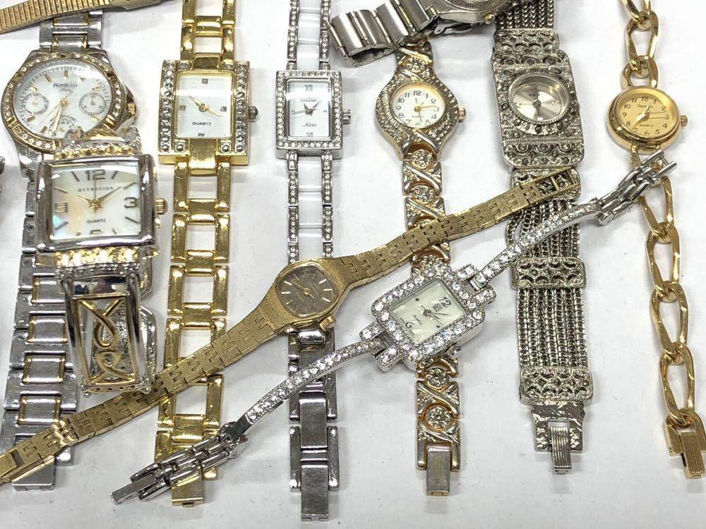 宝飾腕時計など20点 ゴールド シルバー ダイヤモンド 大量 まとめ売りセット ジャンク 豪華 格安1スタート 部品取り GRUEN WALTHAM 056_画像3