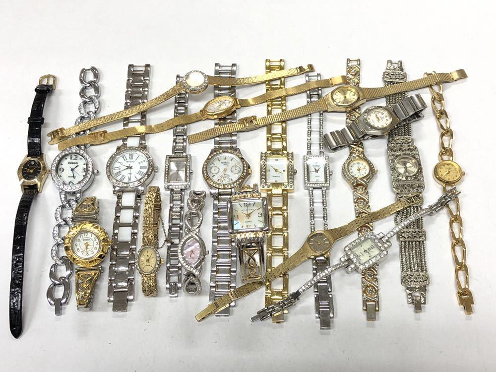 宝飾腕時計など20点 ゴールド シルバー ダイヤモンド 大量 まとめ売りセット ジャンク 豪華 格安1スタート 部品取り GRUEN WALTHAM 056