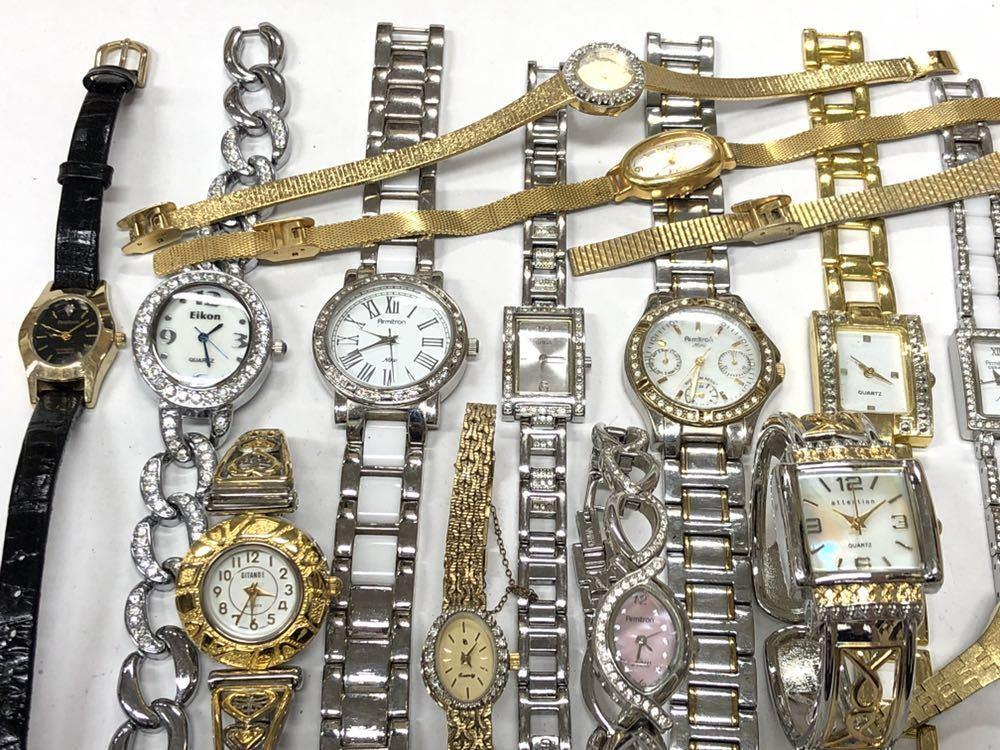 宝飾腕時計など20点 ゴールド シルバー ダイヤモンド 大量 まとめ売りセット ジャンク 豪華 格安1スタート 部品取り GRUEN WALTHAM 056_画像9