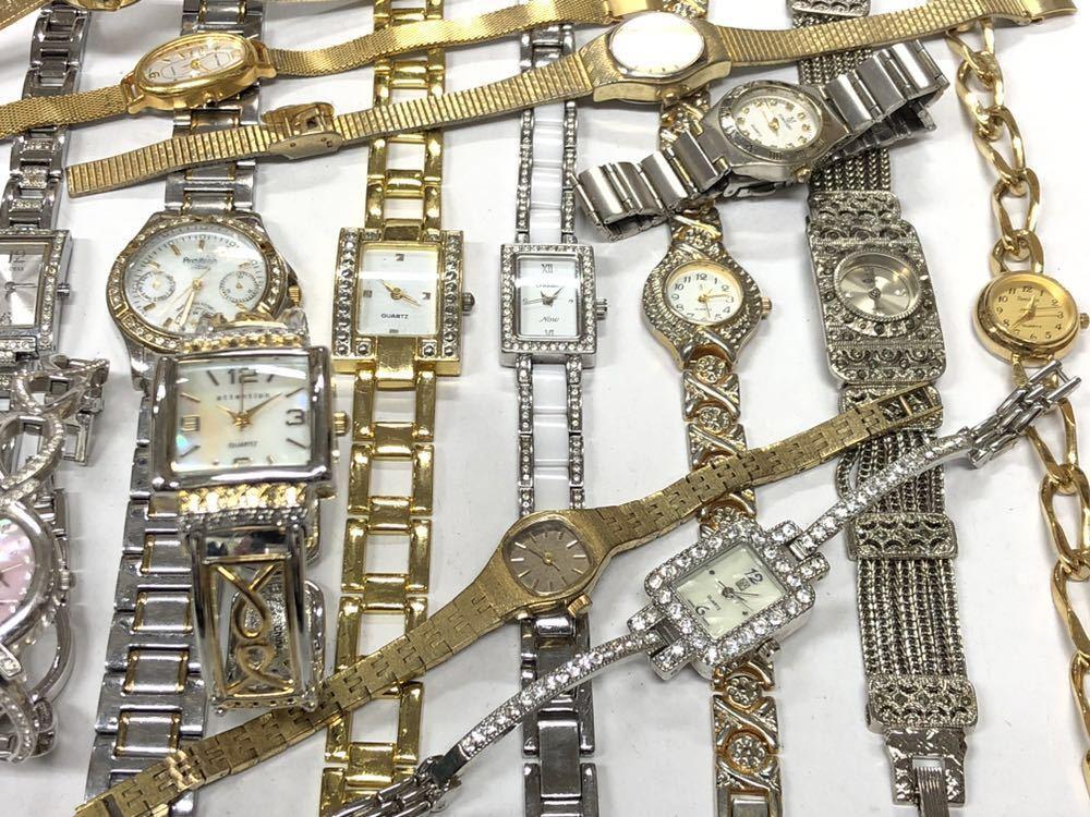 宝飾腕時計など20点 ゴールド シルバー ダイヤモンド 大量 まとめ売りセット ジャンク 豪華 格安1スタート 部品取り GRUEN WALTHAM 056_画像8