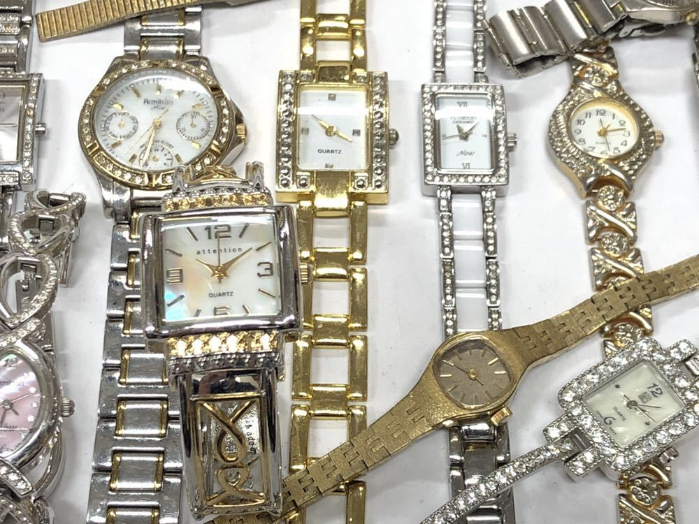 宝飾腕時計など20点 ゴールド シルバー ダイヤモンド 大量 まとめ売りセット ジャンク 豪華 格安1スタート 部品取り GRUEN WALTHAM 056_画像7