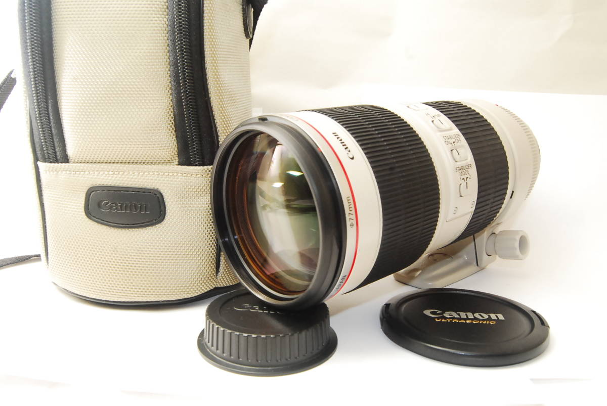 2715 防湿庫保管の極上品 Canon EF70-200mm f2.8L IS Ⅱ USM 現行2型 完動品 3ヶ月保証付_画像1