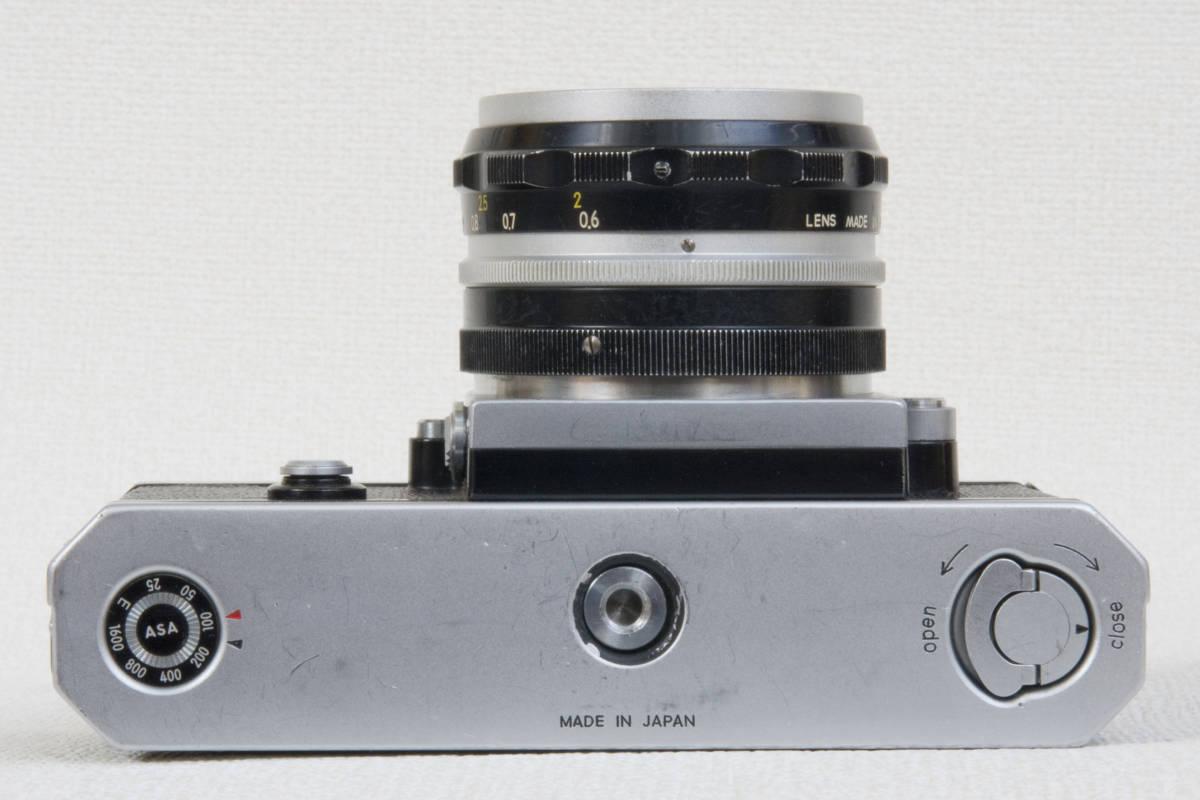 ニコンF アイレベル シルバー 696万番台 Nikkor-H 50mm F1:2.0 セミソフトケース付き 正常動作確認品_画像6
