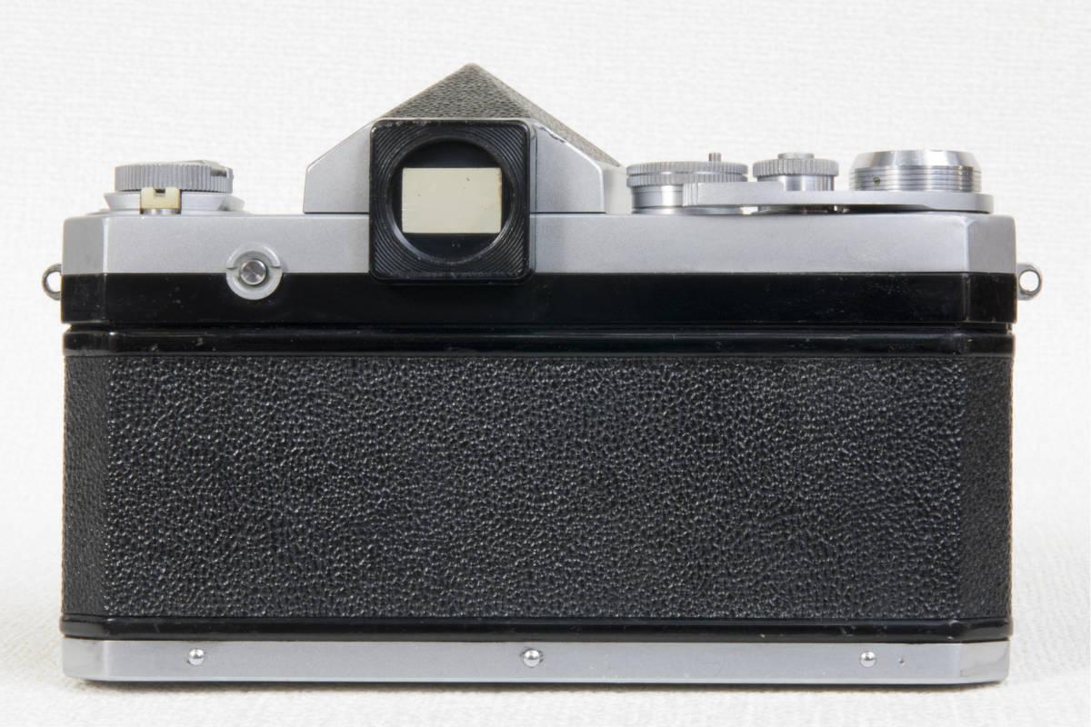 ニコンF アイレベル シルバー 696万番台 Nikkor-H 50mm F1:2.0 セミソフトケース付き 正常動作確認品_画像8