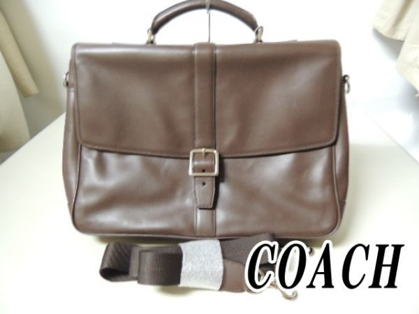 2d296088d2 beautiful goods COACH Coach   judgment ending all leather 2WAY business bag    document bag briefcase