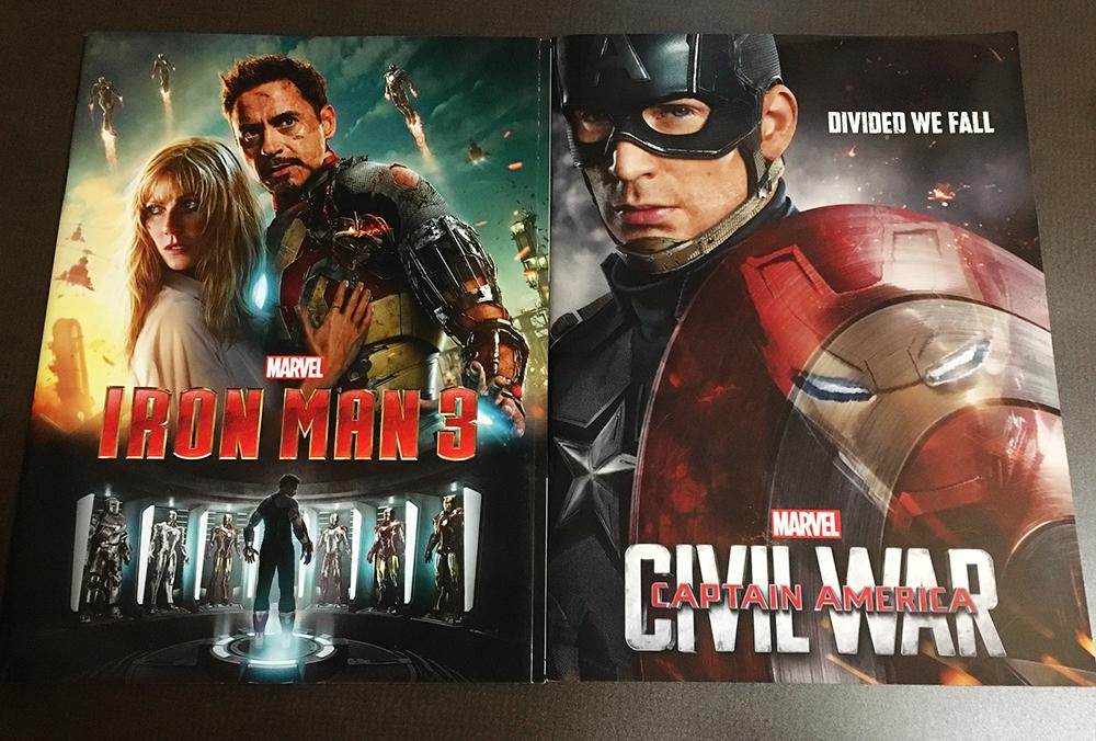 マーベル アイアンマン3 キャプテンアメリカ シビルウォー パンフ 2冊 MARVEL 映画