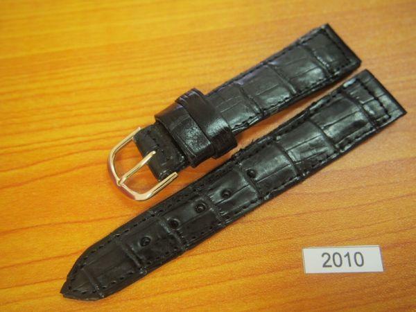 1円~|2010|ラグ幅20mm|クロコダイル|ワニ革|バネ棒おまけ|時計ベルト|売切り|処分