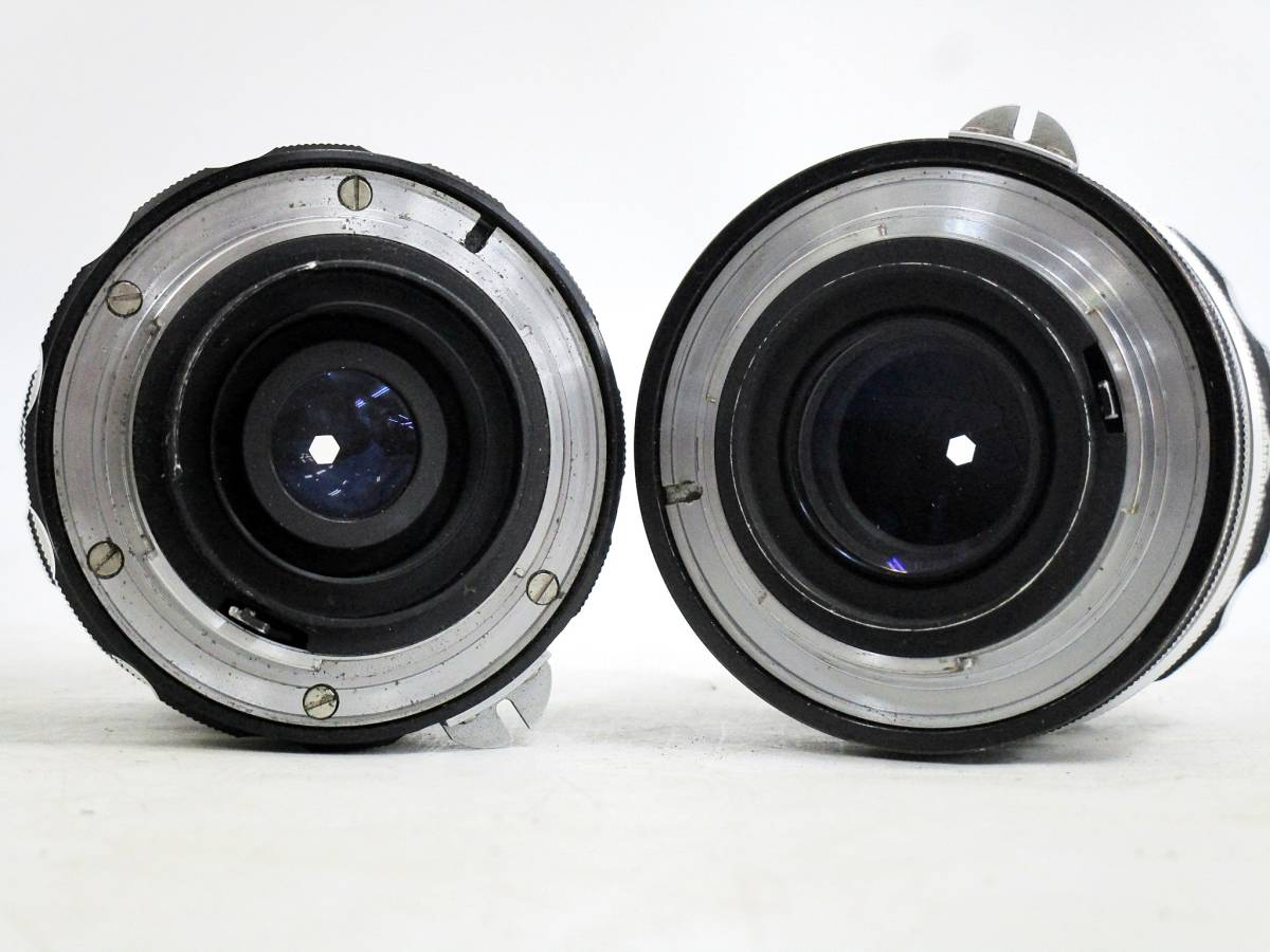 20 110-76348-28 Nikon ニコン F アイレベル 一眼レフカメラ レンズ NIKKOR-S Auto 1:2.8 f=35mm / NIKKOR-P Auto 1:2.5 f=10.5cm 長110_画像9