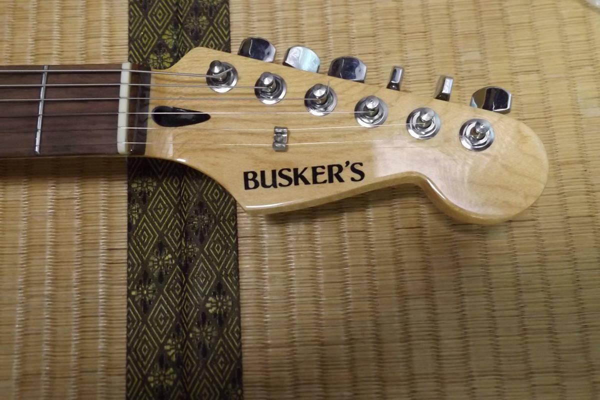 BUSKER'S バスカーズ エレキギター ストラトタイプ サンバースト 中古品_画像2