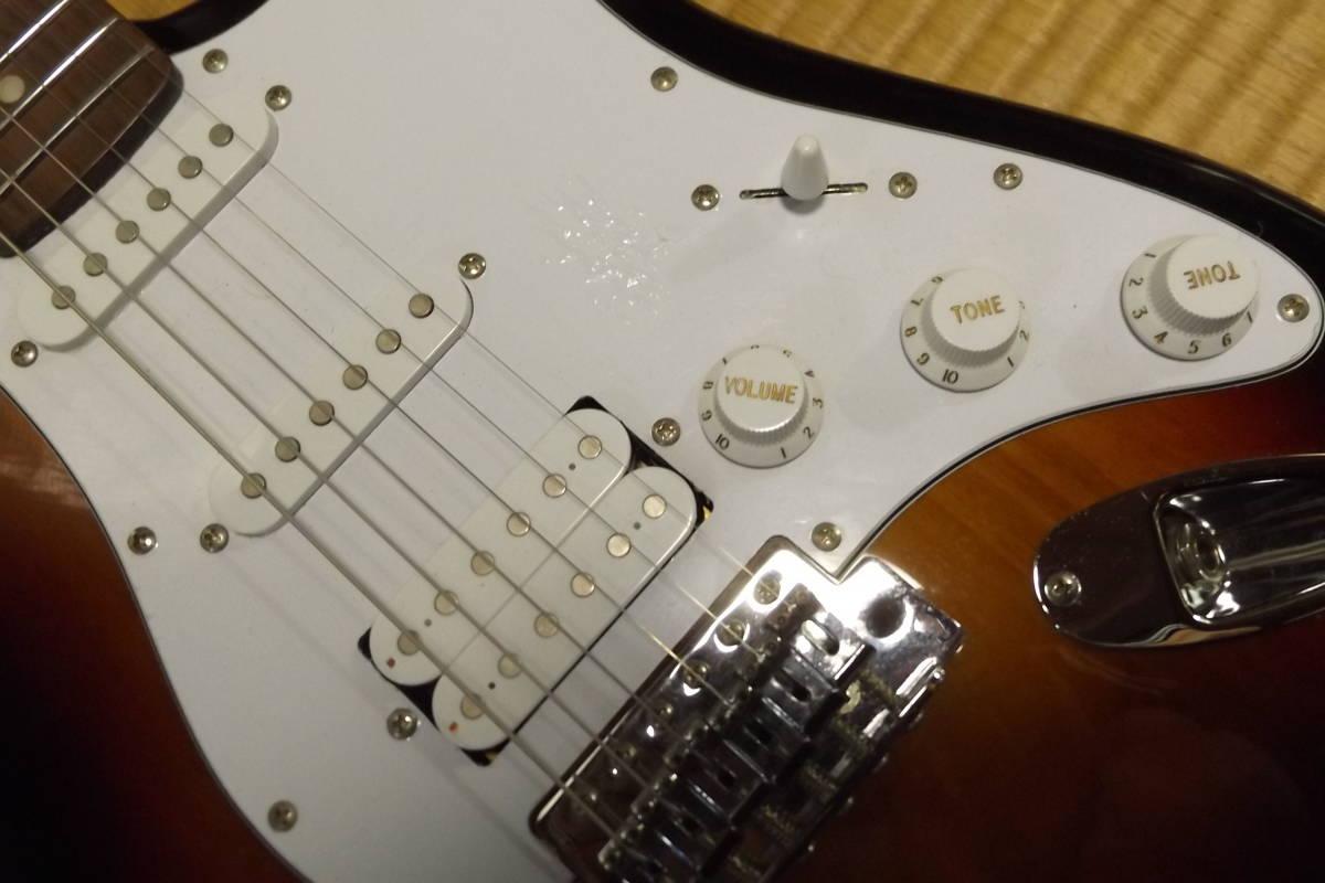 BUSKER'S バスカーズ エレキギター ストラトタイプ サンバースト 中古品_画像10