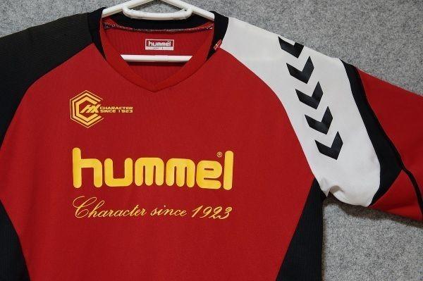 [USED/美品] hummel ヒュンメル サッカー フットサル 半袖プラクティスシャツ 柔らかい風合い 色: 赤系 SIZE: L [85]_画像2