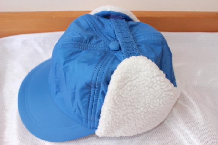 ボア耳当て付き防寒キャップ帽子56cm スキーウェア小物 雪遊び