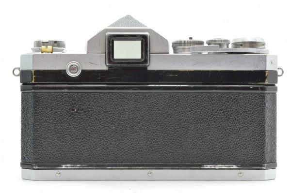 ◆ Nikon ニコン F アイレベル 650万台 + 非AI 5.8cm F1.4 + 10.5cm F2.5 フィルムカメラ 標準単焦点 中望遠単焦点 訳あり 送料無料_画像3