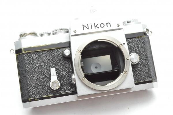 ◆ Nikon ニコン F アイレベル 650万台 + 非AI 5.8cm F1.4 + 10.5cm F2.5 フィルムカメラ 標準単焦点 中望遠単焦点 訳あり 送料無料_画像7