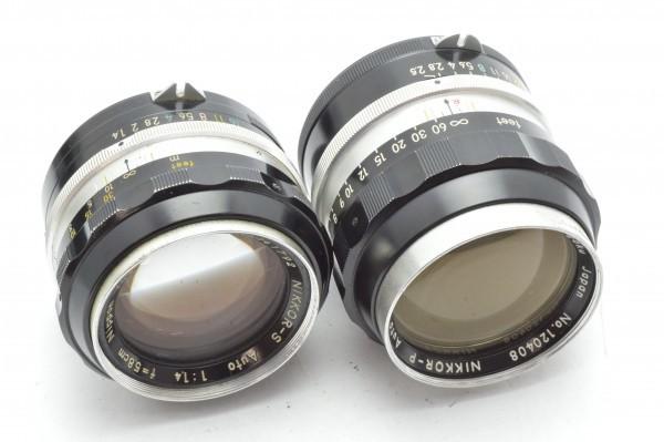 ◆ Nikon ニコン F アイレベル 650万台 + 非AI 5.8cm F1.4 + 10.5cm F2.5 フィルムカメラ 標準単焦点 中望遠単焦点 訳あり 送料無料_画像9