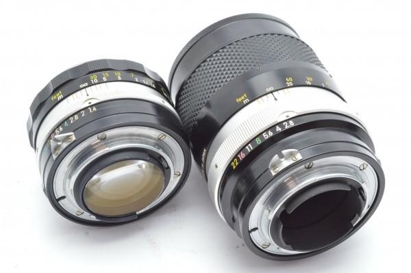◆ Nikon ニコン F アイレベル 726万台 + 非AI NIKKOR-S Auto 50mm F1.4 + 135mm F2.8 フィルムカメラ 標準単焦点 中望遠単焦点 送料無料_画像10