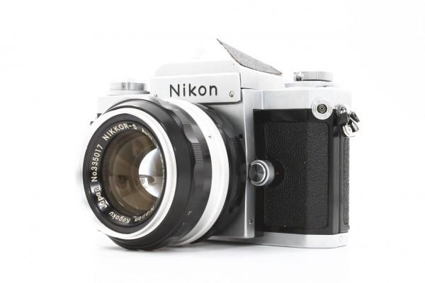 Nikon ニコン F アイレベル 699万台 + NIKKOR-S Auto 50mm F1.4 フィルムカメラ 標準単焦点 レンズ 送料無料_画像3