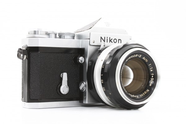 Nikon ニコン F アイレベル 699万台 + NIKKOR-S Auto 50mm F1.4 フィルムカメラ 標準単焦点 レンズ 送料無料_画像4