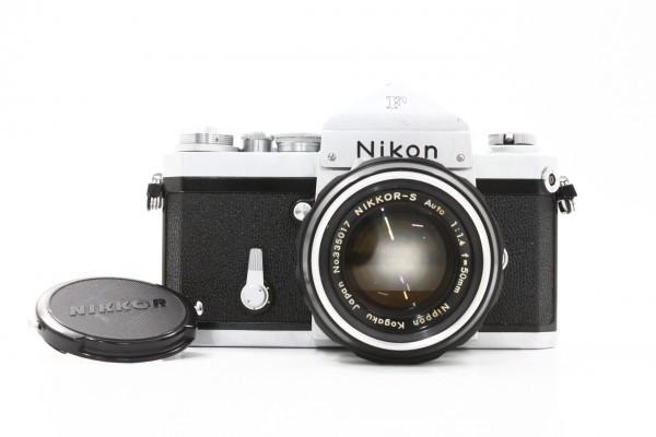 Nikon ニコン F アイレベル 699万台 + NIKKOR-S Auto 50mm F1.4 フィルムカメラ 標準単焦点 レンズ 送料無料