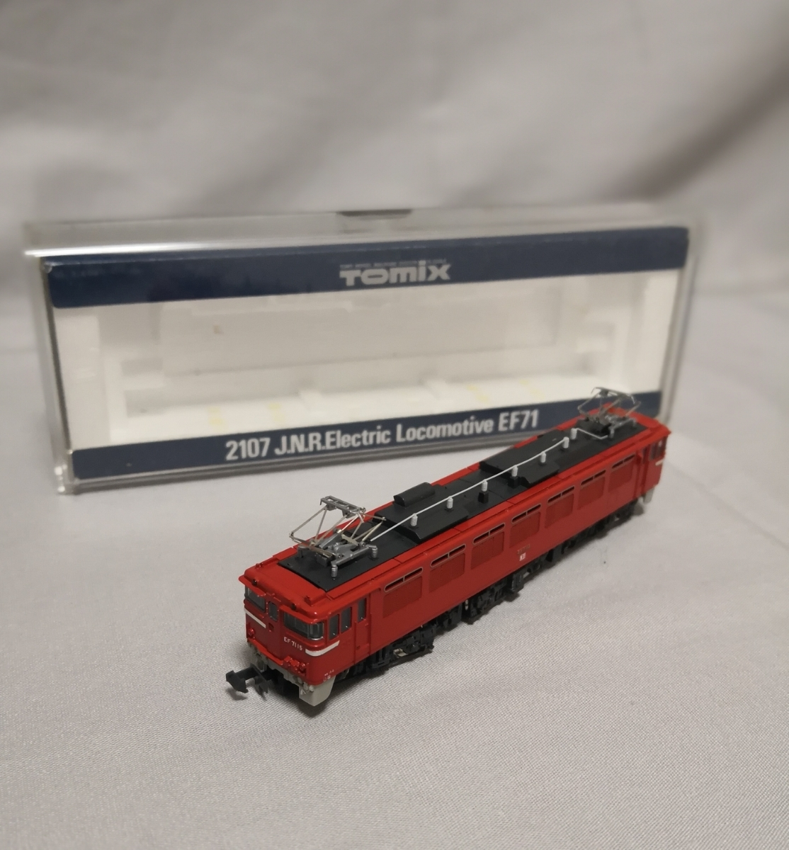 [ N gauge National Railways electric locomotive EF71 ]*Tomix made * secondhand goods junk treatment .*100 jpy start selling out *