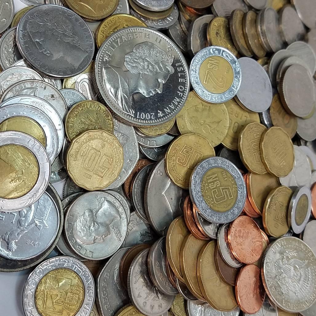 ★外国貨幣等  コイン まとめ★1930.5gアメリカ/ドイツ/イギリス/メキシコ/ジャマイカ/オーストラリア/シンガポール/フランス/他 CE0