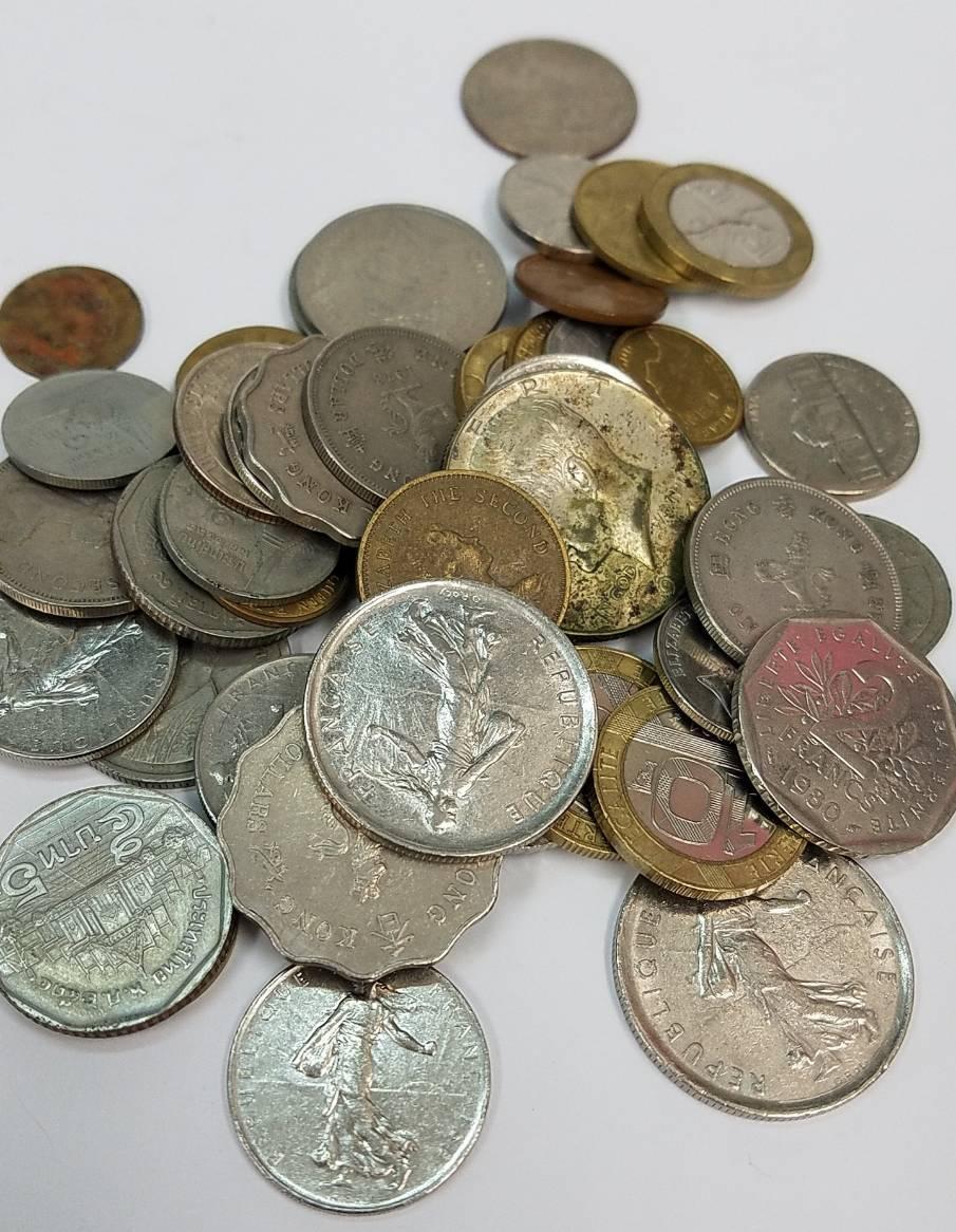 ★外国貨幣等  コイン まとめ★1930.5gアメリカ/ドイツ/イギリス/メキシコ/ジャマイカ/オーストラリア/シンガポール/フランス/他 CE0_画像5