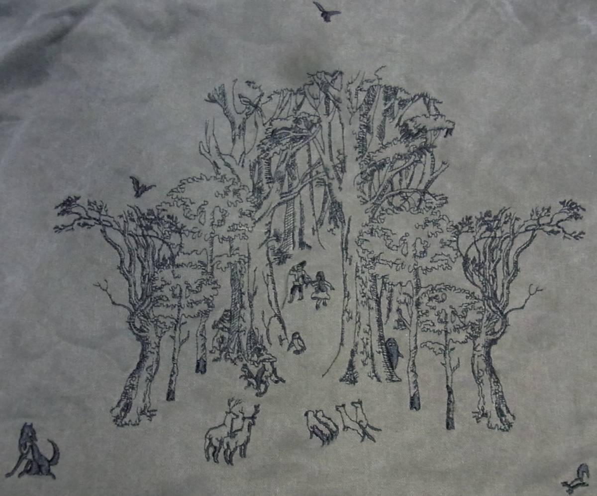 stof ストフ 動物柄 刺繍 ショルダーバッグ ririファスナー