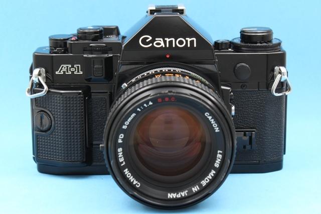 作動確認済み Canon A-1 FD 50mm 1.4 SSC シャッター・露出計OK 純正付属品多数 詳細は説明参照 ジャンクで_画像2
