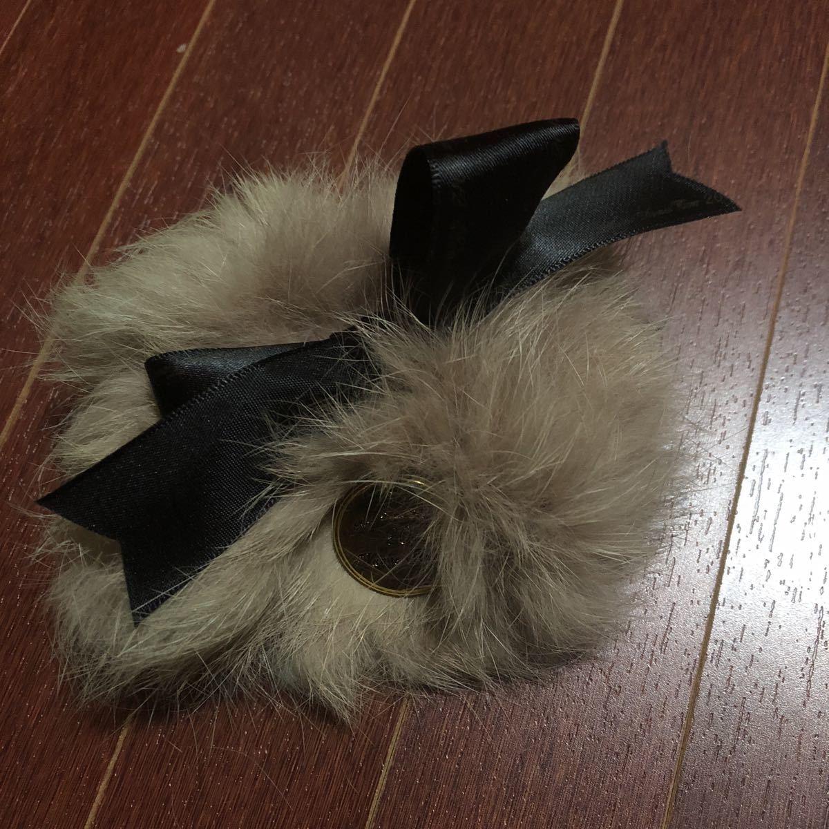 安室奈美恵 20周年ファーリストバンド_画像1
