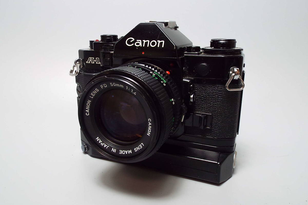 CANON キャノン/一眼レフ/フィルムカメラ/MF/A-1/ブラック/FD 50mm/f:1.4/POWER WINDER A2/W559