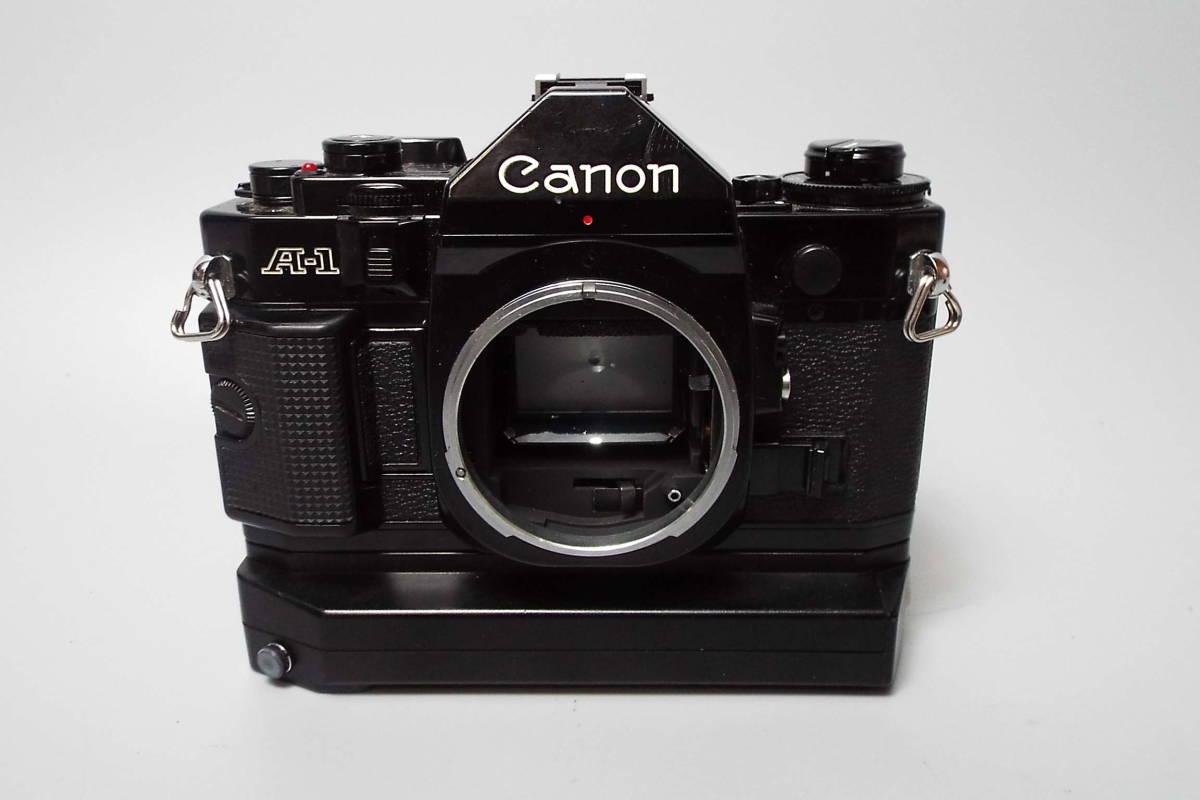 CANON キャノン/一眼レフ/フィルムカメラ/MF/A-1/ブラック/FD 50mm/f:1.4/POWER WINDER A2/W559_画像3