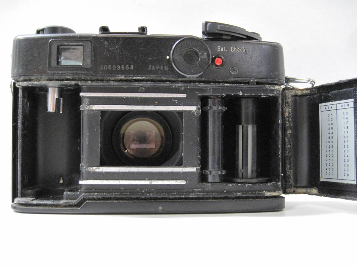 カメラ 祭 YASHICA ヤシカ ELECTRO エレクトロ 35CCN フィルム コンパクト カメラ COLOR YASHINON カラーヤシノン DX 35mm 1:2.8_画像7