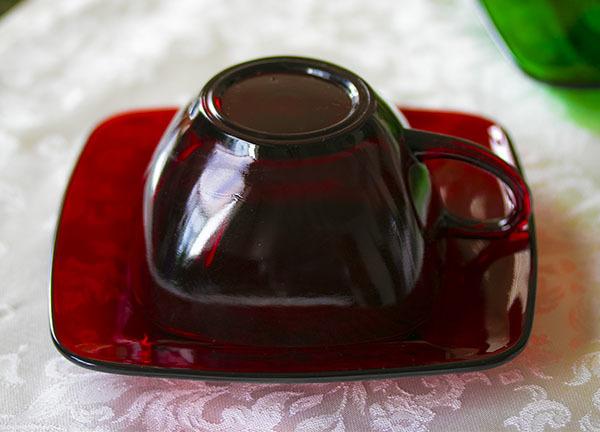 美品! ファイヤーキング ロイヤルルビー チャーム カップ&ソーサー 1950年代 ビンテージ コーヒー 紅茶 ティー_画像2