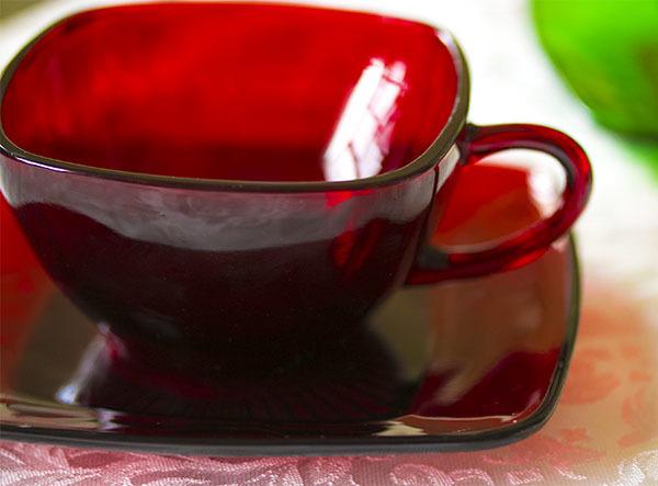 美品! ファイヤーキング ロイヤルルビー チャーム カップ&ソーサー 1950年代 ビンテージ コーヒー 紅茶 ティー_画像3