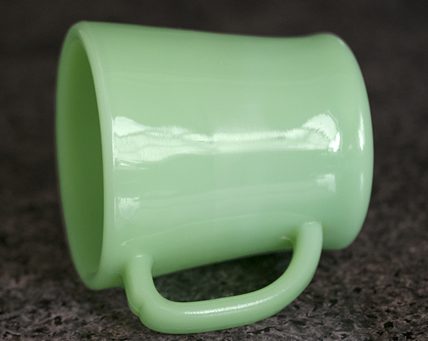 初期型! ファイヤーキング マグ ジェダイ Dハンドル 1940年代 アメリカ 耐熱 ミルクグラス コーヒー キッチン 雑貨_画像2