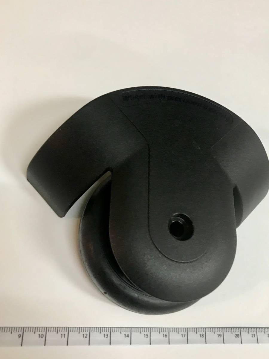 R-06 《倉庫整理処分》 RIMOWA リモワ 純正 修理用 2輪トローリー ハウジング&車輪セット ブラック_画像1